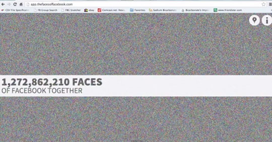 1.2 Billion Facebook Faces Extracted on a Website