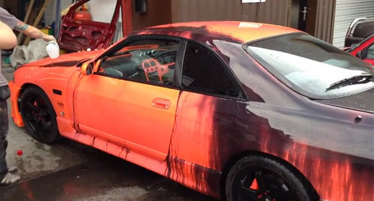 Heat Sensitive Paint on a Real Car Looks Awesome