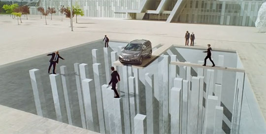 Honda's CR-V Commercial Has Some Neat Illusions
