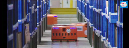A Day In The Life of an Amazon Warehouse Robot