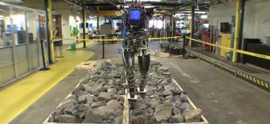 DARPA's Atlas Robot Can Now Walk on Rocky Terrain
