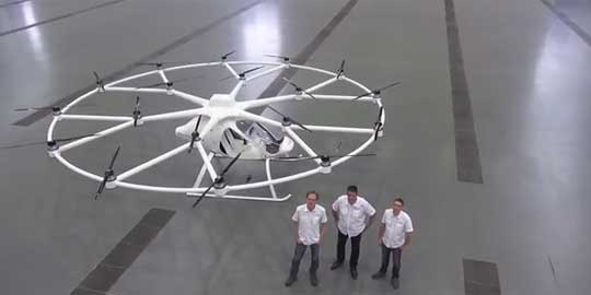 E-volo's 18-rotor Electric Volocopter First Test Flight