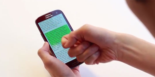 Qeeze - Touchscreen Detects Which Part of Finger You Use