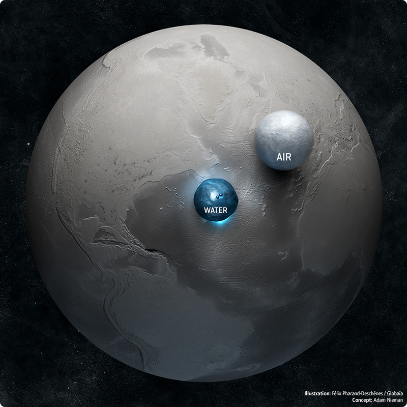 Amazing Image of Earth Comparing it's Water and Air
