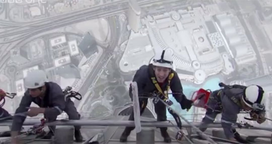 Window Cleaning the World's Tallest Building