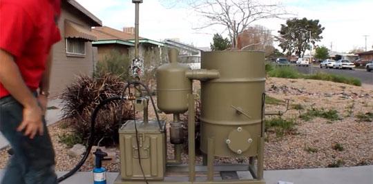 Homemade Electric Generator Runs on Wood