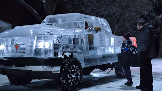Truck Made of Ice - You Can Actually Drive