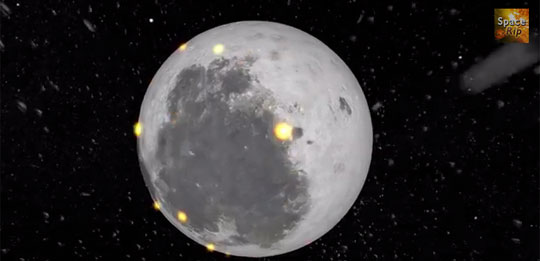 The History of Our Moon - Why it Has Dark Spots