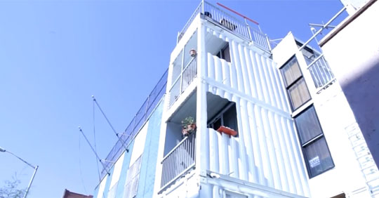 NYC Building Made Out of Shipping Containers