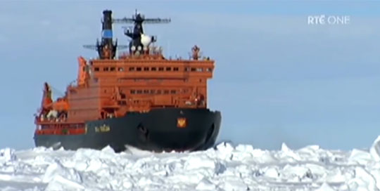 The World's Most Powerful Ice Breaker Ship - Let Pobedy