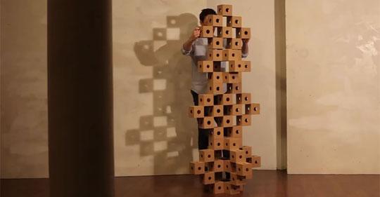 Cardboard Cubes are Hypnotizing - GhostCubes