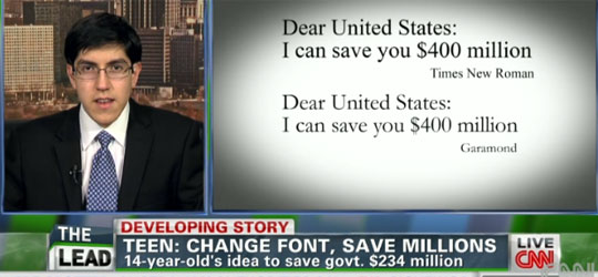 By Changing Font on Documents U.S Gov Could Save $400 Million