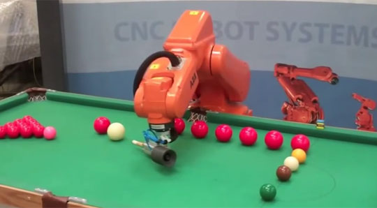 Robot Arm Playing Pool