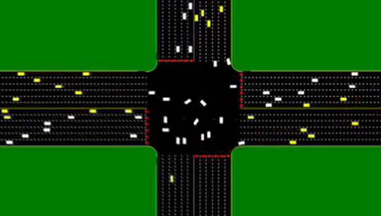 This is How Driverless Cars Can Handle Traffic Intersections