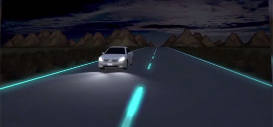 Roads that Glow in the Dark