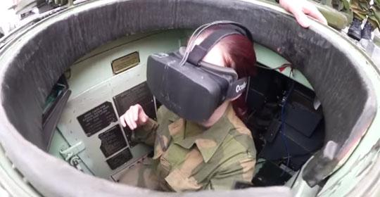 Norwegian Army Driving Armoured Vehicles Using Oculus Rift