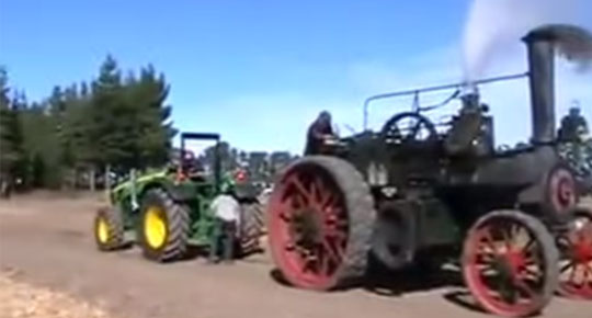 Modern Tractor VS 1800s Steam Tractor