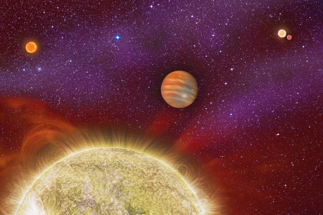 Newly-Discovered Planet Has Four Parent Stars