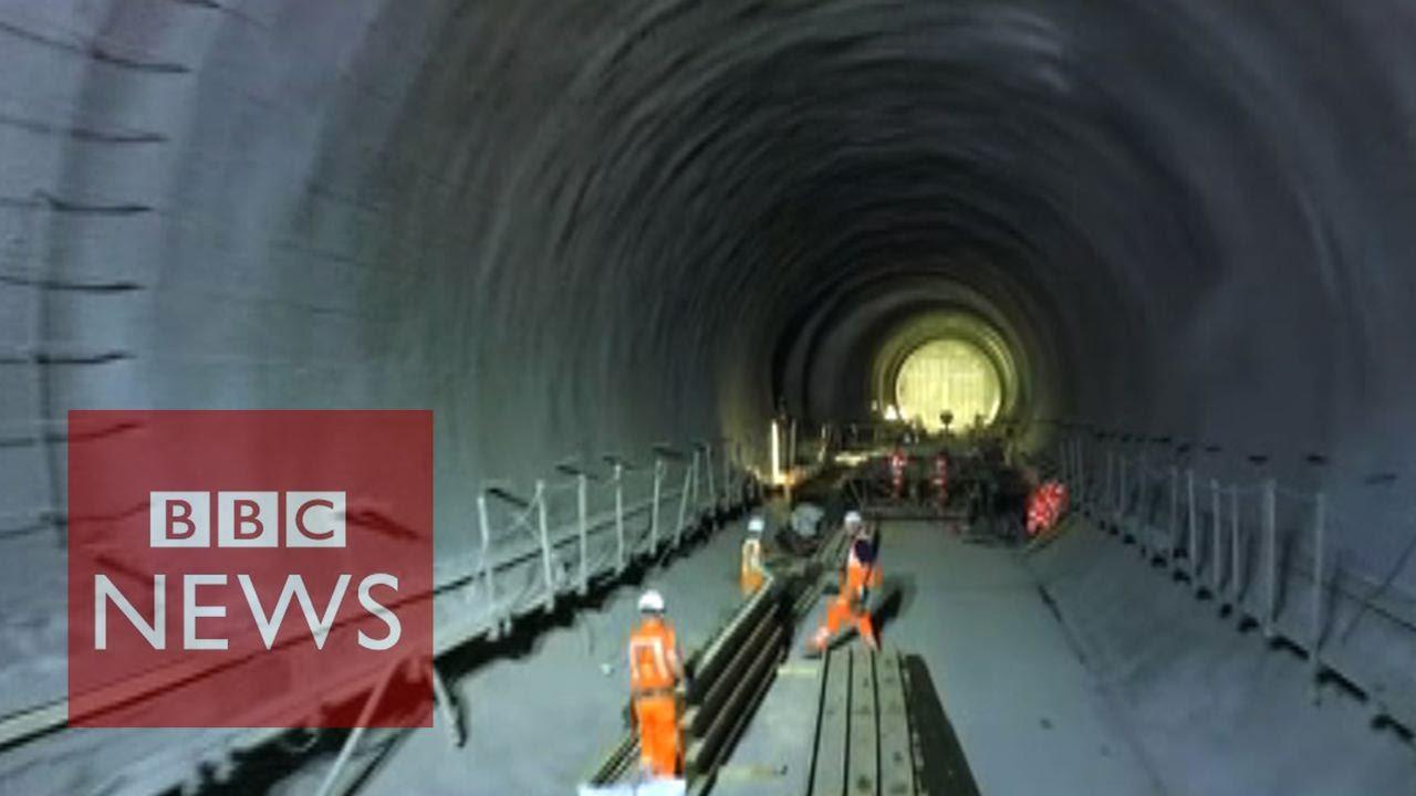 Flying a drone through Crossrail tunnels