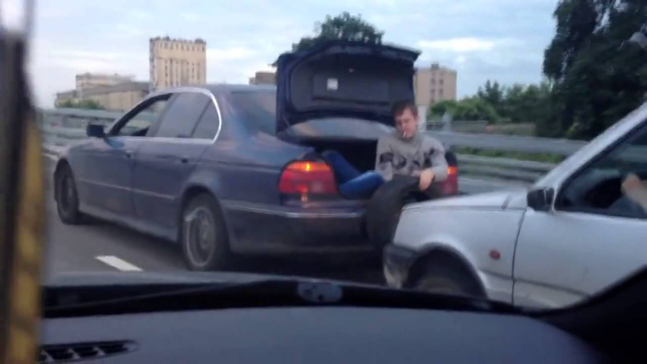 Only In Russia Towing A Car Without A Rope Is Possible