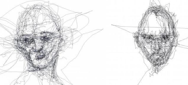 These Portraits Are Drawn Only With Eye-Tracking Software