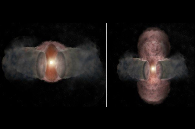 Astronomers Track Birth Of A Giant