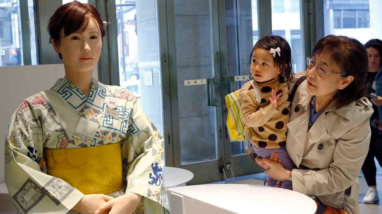 Humanoid Robot Greeting Customers in Japan Today