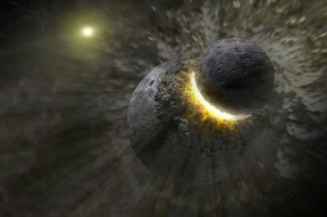 """Earth """"Ate"""" Another Planet Early In Its History"""