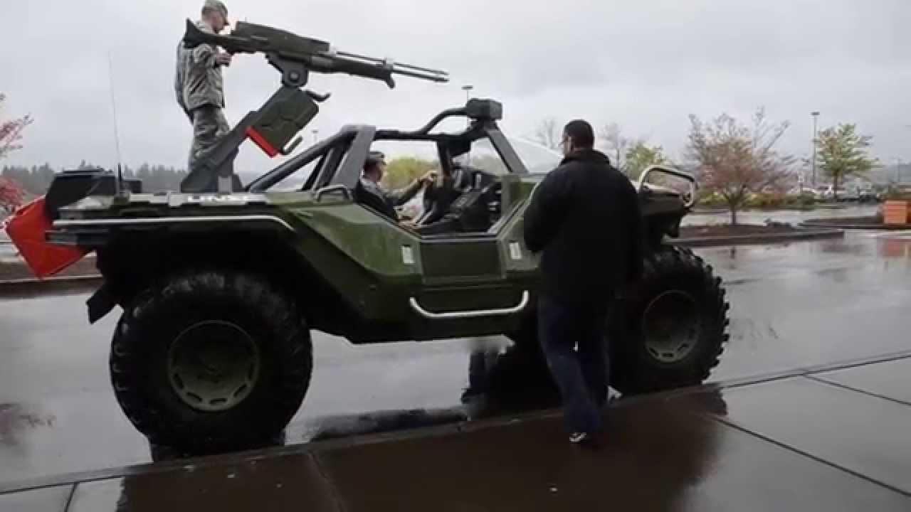 Real Life Halo Vehicles: Real Life Halo Warthog Visits Military Base
