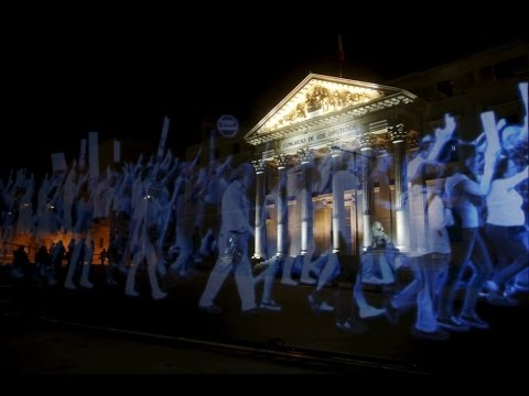 See the World's First HOLOGRAM Protest in Spain