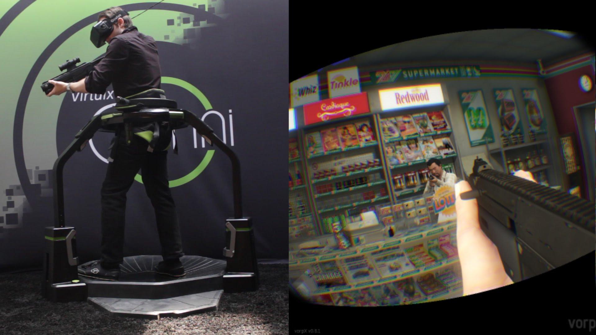 When the Virtuix Omni VR Treadmill Meets Grand Theft Auto V