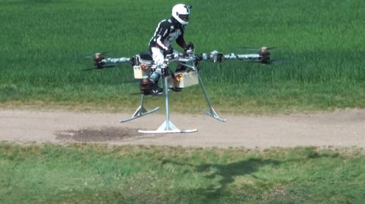 First Manned Flight for Flike Personal Tricopter
