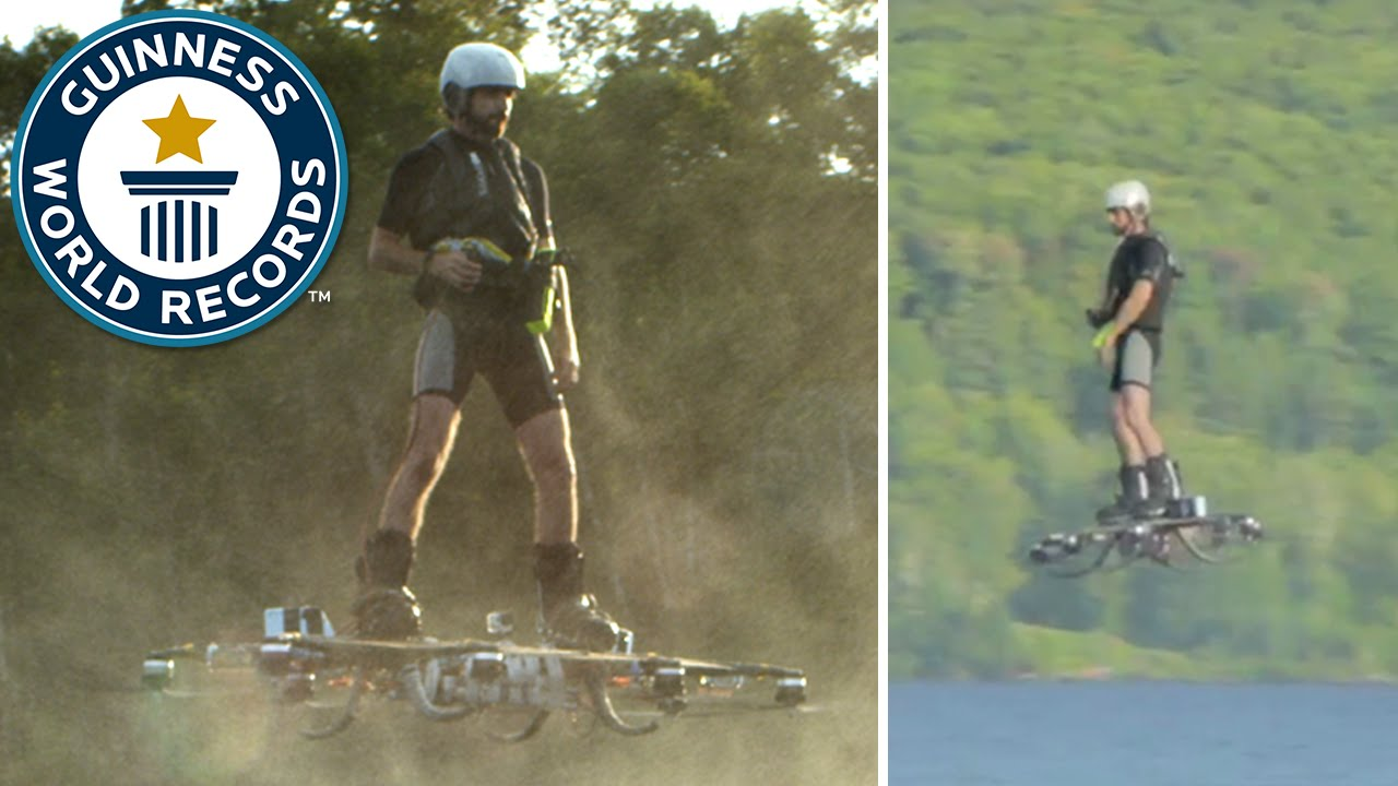Guinness World Record on a Hoverboard