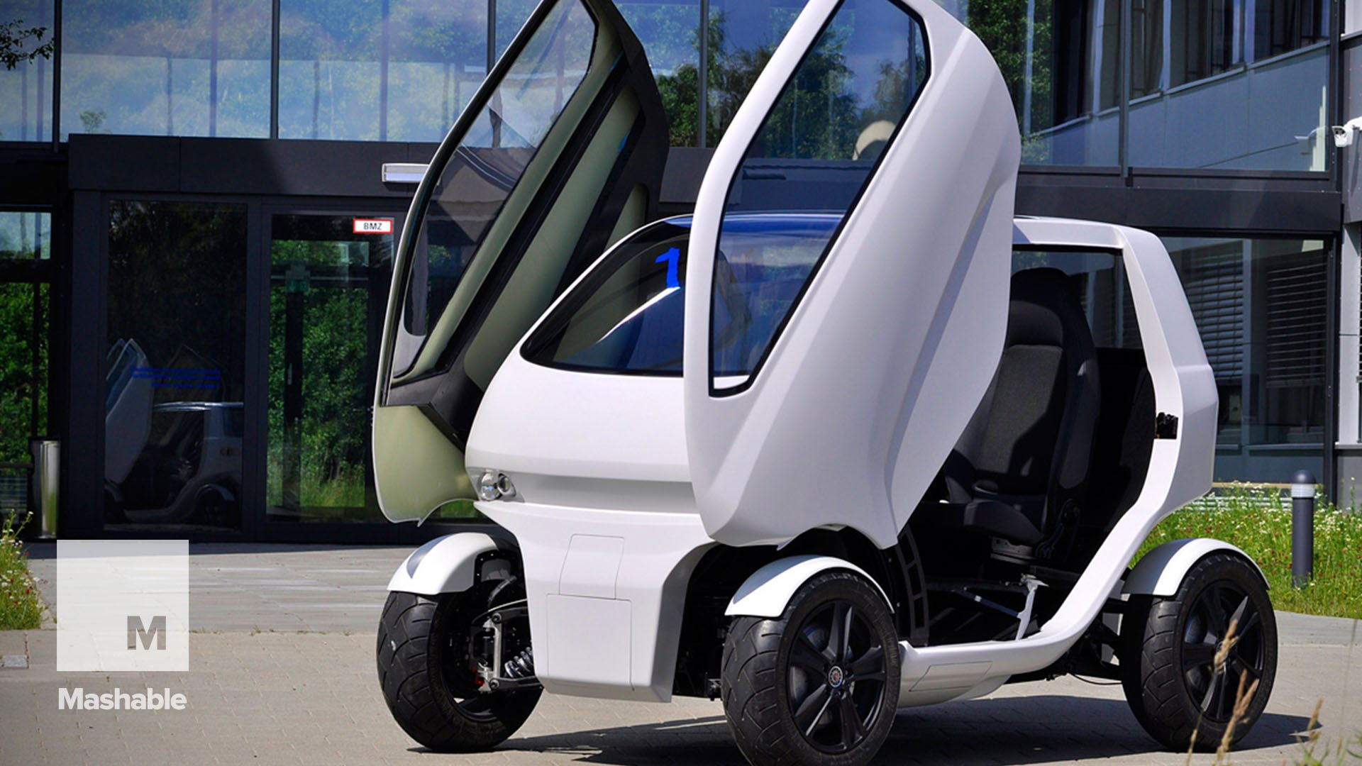This tiny car can change shape, drive sideways