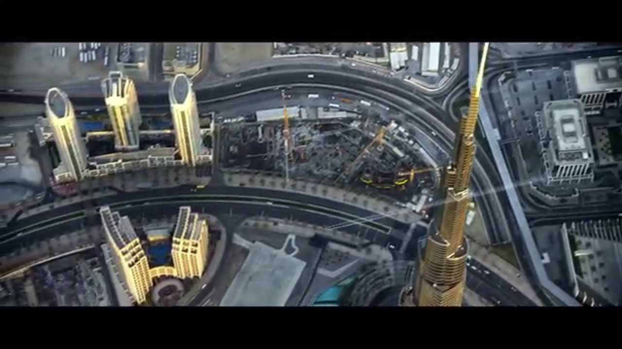 Two People Fly Over Dubai in Jetpacks