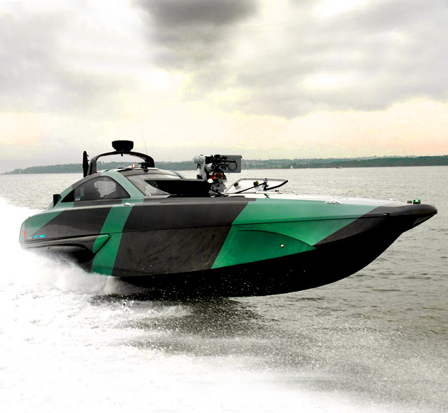 XSR 48 Military Interceptor Has .50-Caliber Machine Gun Hidden Under the Deck, Might be Coolest Boat Yet