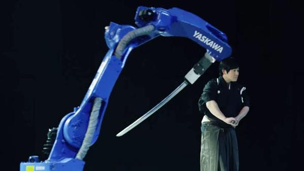 Master Swordsman Teaches a Robot How to Use a Katana