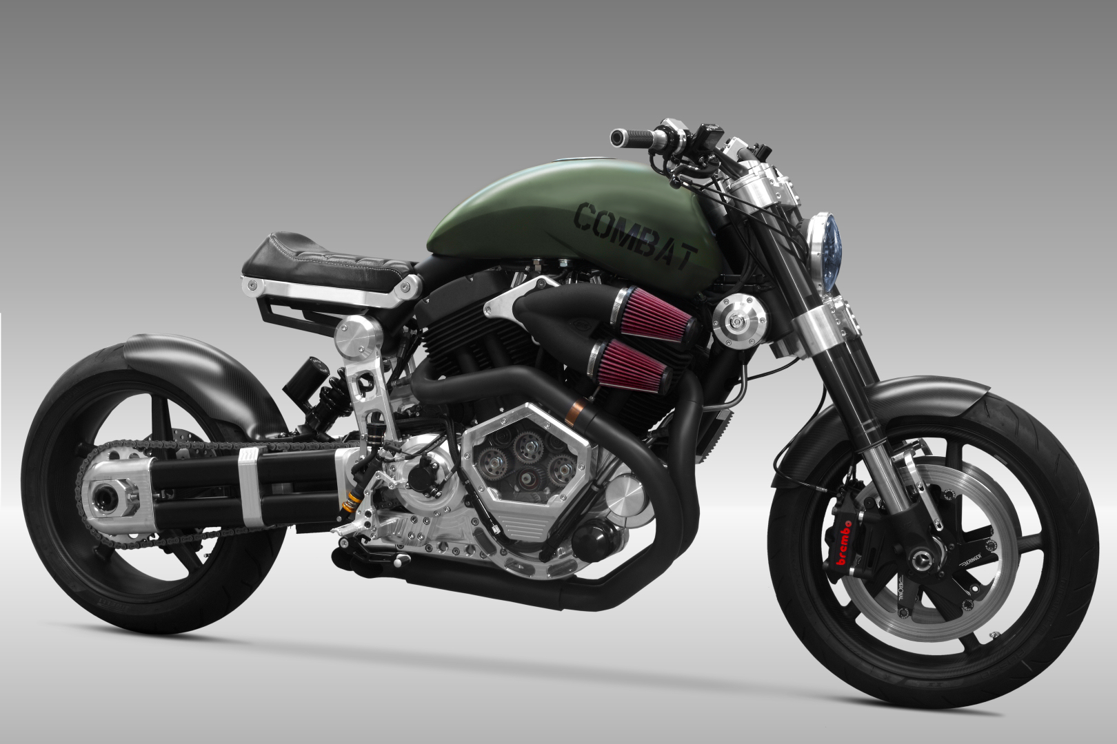 Confederate X132 Hellcat Combat Motorcycle is World's Fastest Big Block V-Twin, Can Hit 172MPH