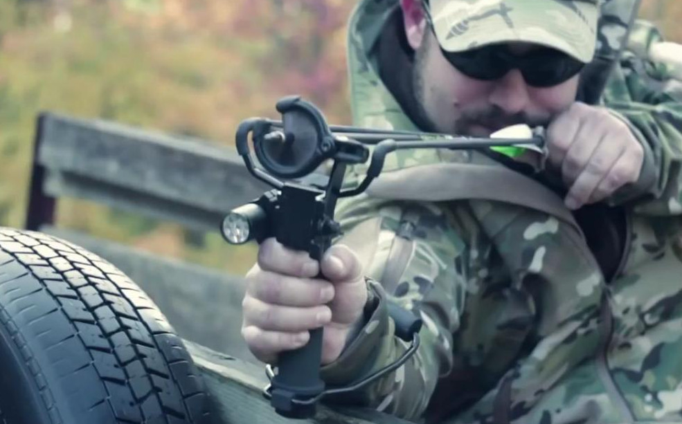 Archery Survival Slingshot Doubles as a Tactical Light, Perfect for Zombie Hunting