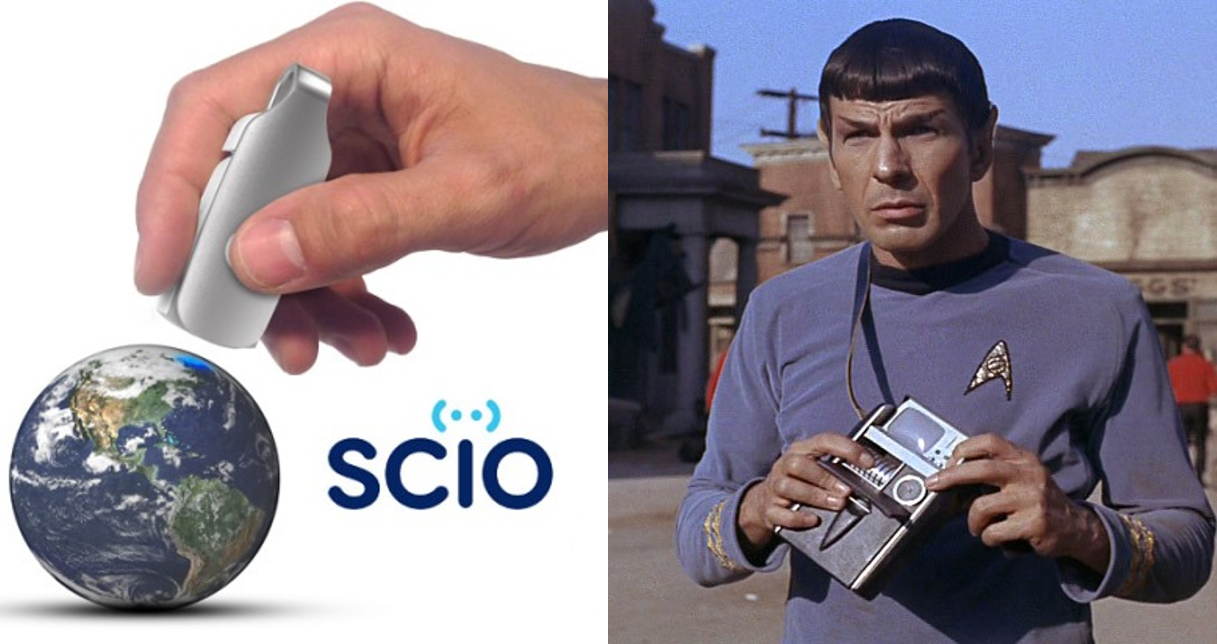 SCiO is World's First Pocket-Sized Spectrometer That Can Tell You the Molecular Makeup of Just About Anything