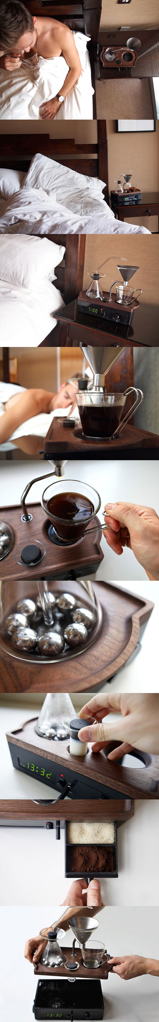 coffee brewing alarmclock