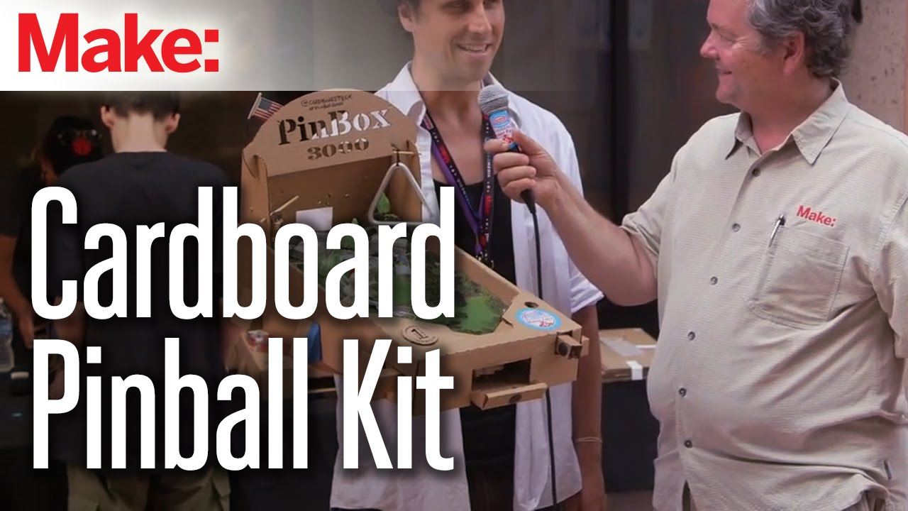 Customize These Cardboard Pinball Machines However You Want