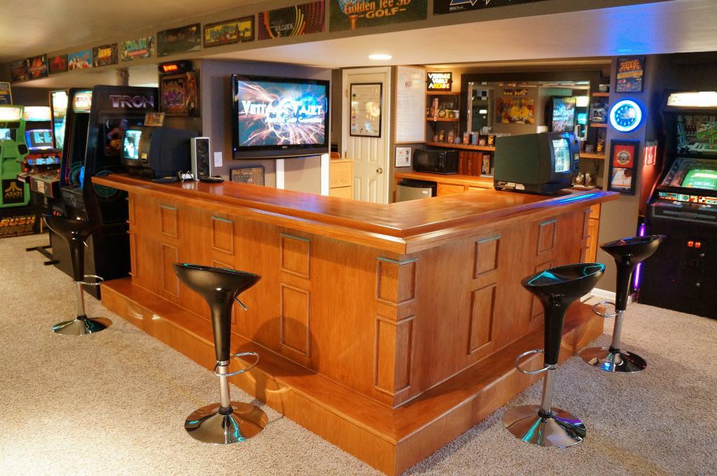 Massive Vintage Arcade Basement