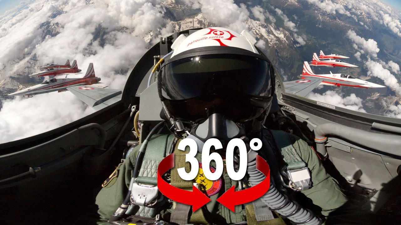 Virtually Fly With Switzerland's F-5 Demo Team Using 360 Video Tech