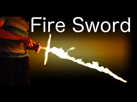 A sword made of fire is kind of cool