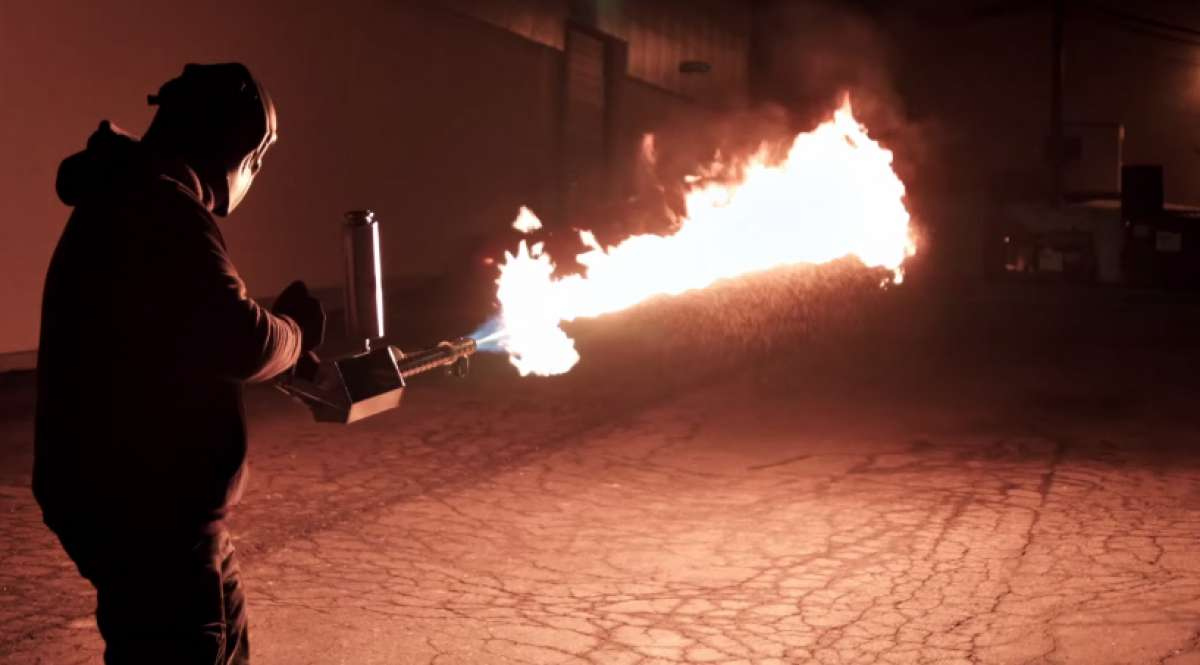This is Not a Video Game, Just the World's First Handheld Flamethrower
