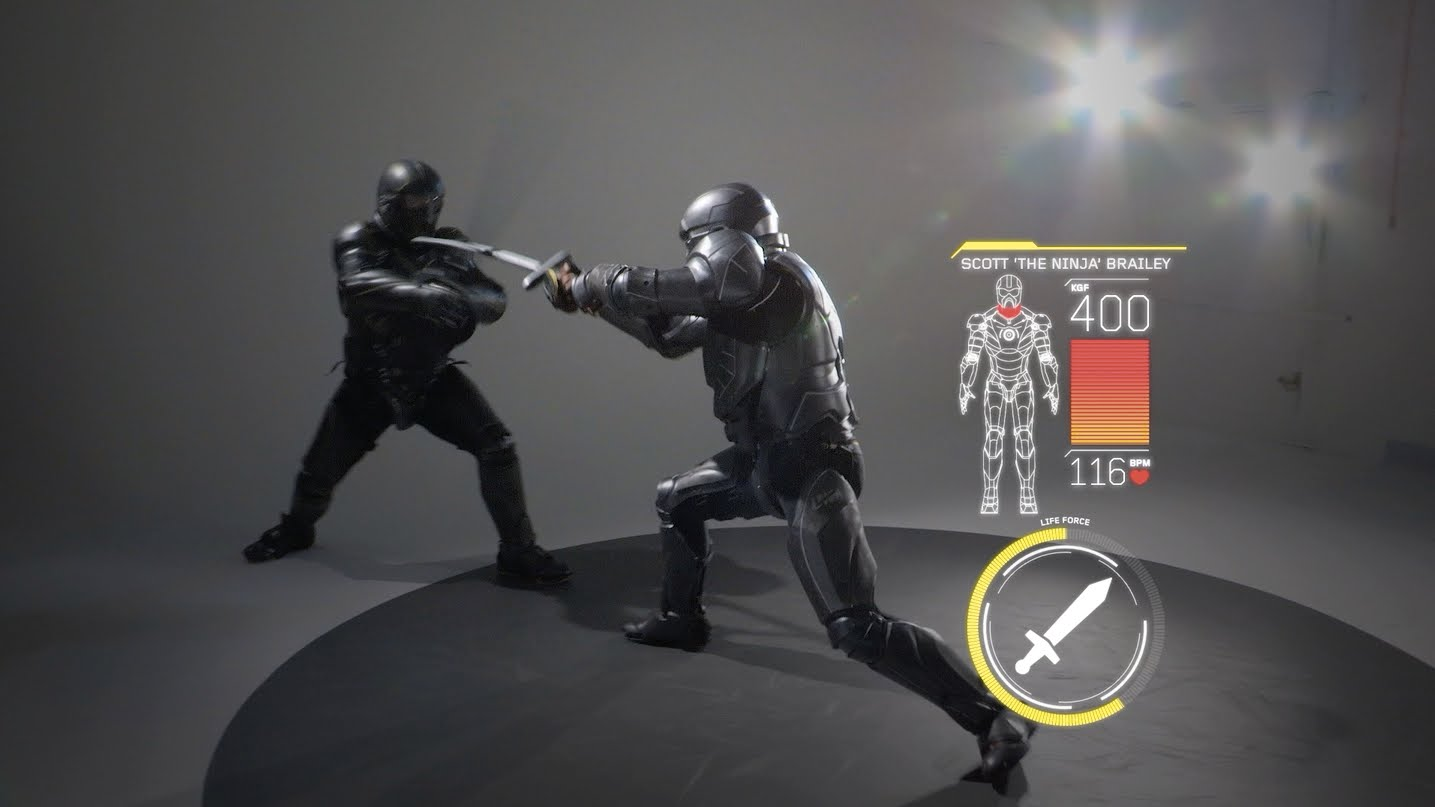 Full Contact Weaponized Combat in High Tech Battle Suits