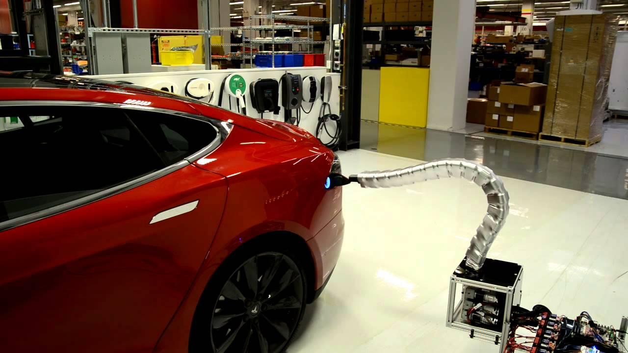 Tesla's new charger prototype is creepy
