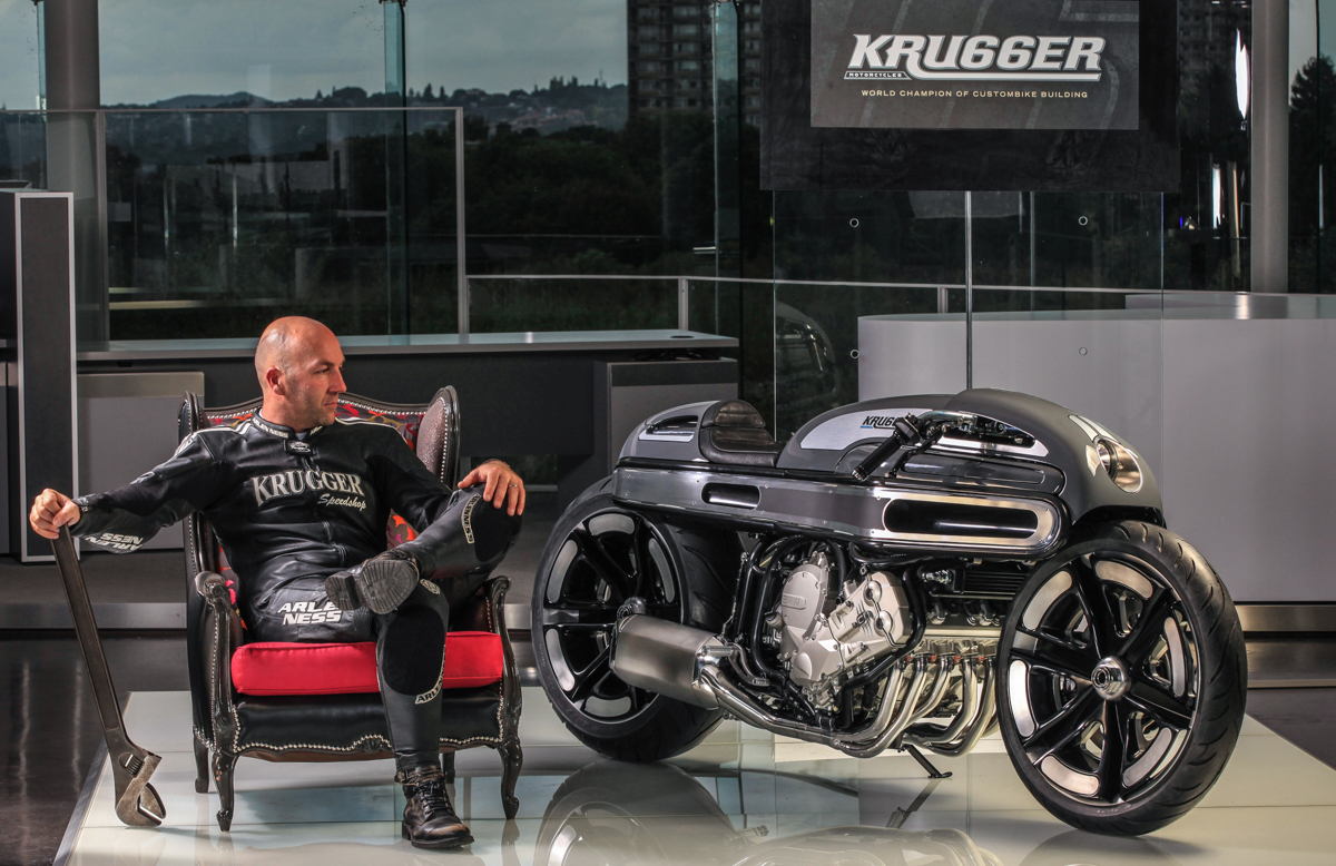 Krugger's BMW K1600 Motorcycle with a Custom Art Deco Aluminum Body