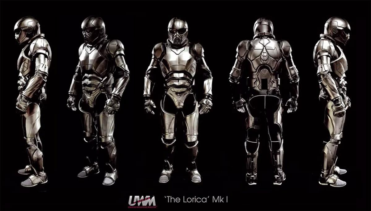 Carbon Fiber Gladiator Suit Has Integrated Wi-Fi and 52 Pressure Sensors